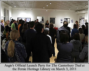 The Canterbury Trail Launch Party at the Fernie Heritage Library